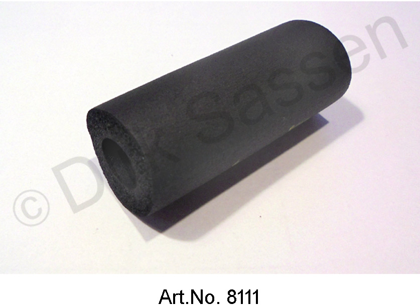 Bushing for speedometer cable, foam rubber