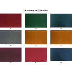 Seat covers, Break, until 1968, smooth fabric, jersey, fully assembled, replacement part, without emergency seats