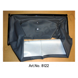 Air scoop, with metal frame, riveted, up to DS 21, black, carburettor, up to 09/1972