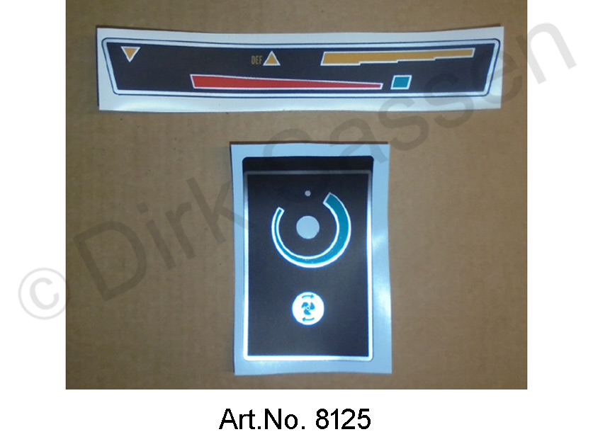 Set of stickers, for air conditioning, 2 pieces
