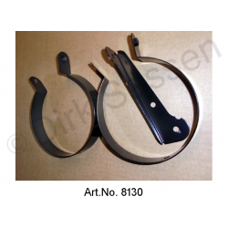 Set of brackets for air hoses, 3-part, for fenders, left and right, up to 09/172, black