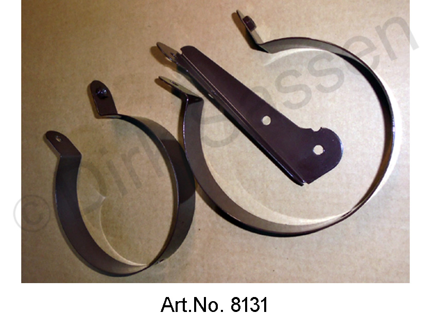 Set of brackets for air hoses, 3-part, for fenders, left and right, from 09/172, brown