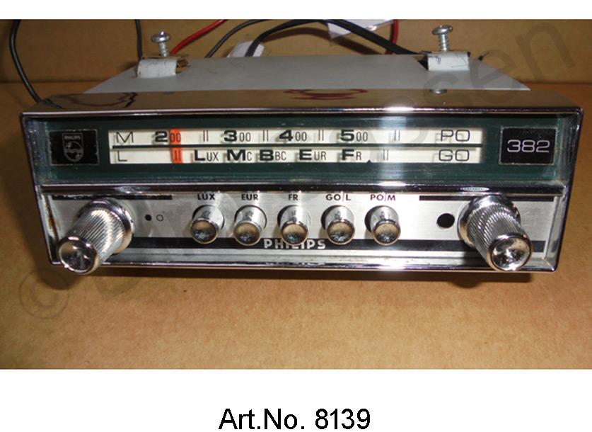 Radio, Philips 382, modified, with VHF / FM reception, without scale display and MP3