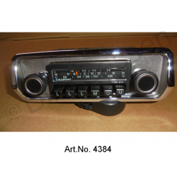 Radio, Blaupunkt, with chrome cover, scales cover black plastic