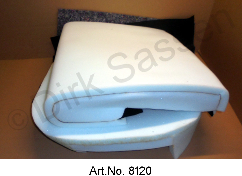 Front seat, backrest with seat, ID, up to 1968, 2-part, foam