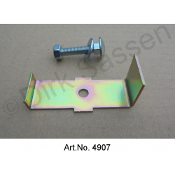 Cat's eye holder, yellow chromated, with screw, for non-Pallas, No. 0586c