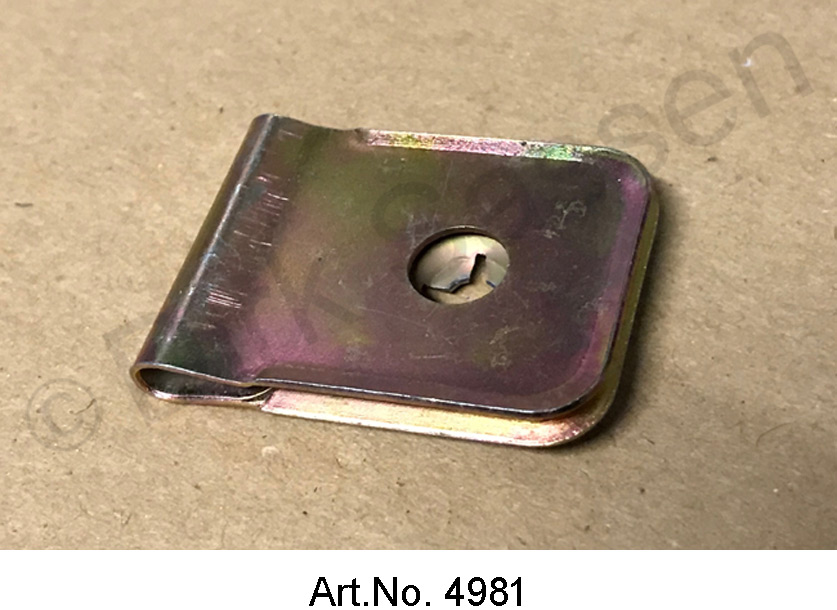 Sheet metal nut for air scoop, on the aluminum shaft, newly manufactured
