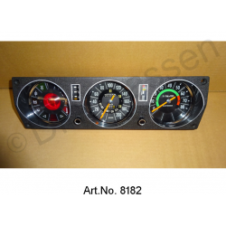 Dashboard panel, from 1971, complete, refurbished, with water temperature display, speedometer checked and calibrated