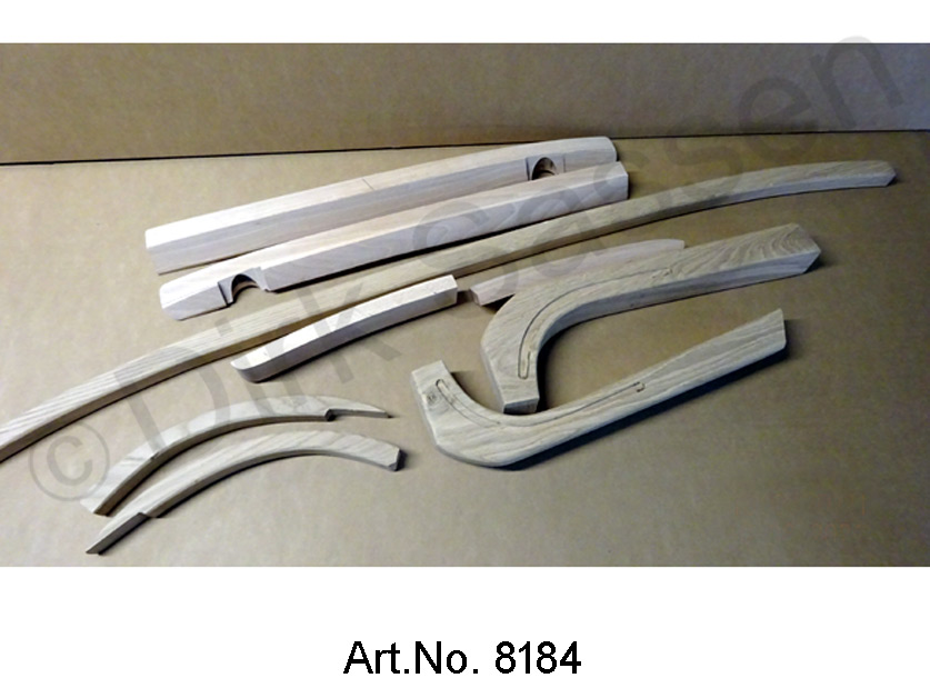 Set of wooden bows, Convertible, complete, 8 pieces