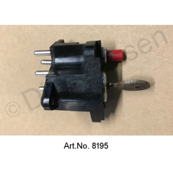 Ignition lock, ID, used, until 1965, red start button version