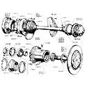 Drive shafts, Wheel hubs, Swing arms